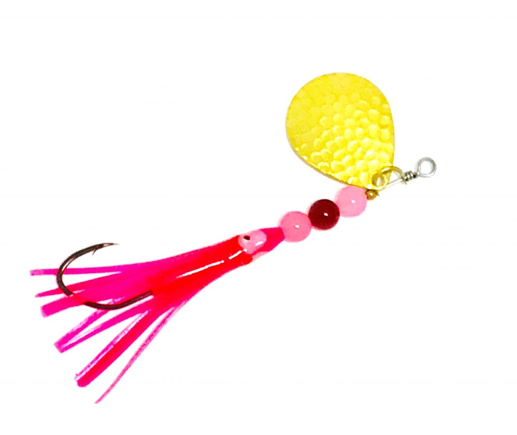 Hammered Pinky salmon trolling spinner